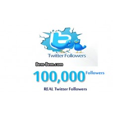 100,000Twitter Real Followers