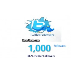 1000 Twitter Real Followers