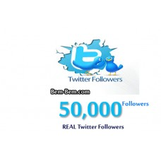 50,000 Twitter Real Followers