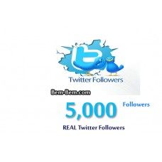 5000 Twitter Real Followers