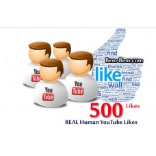 500 Youtube Real Likes